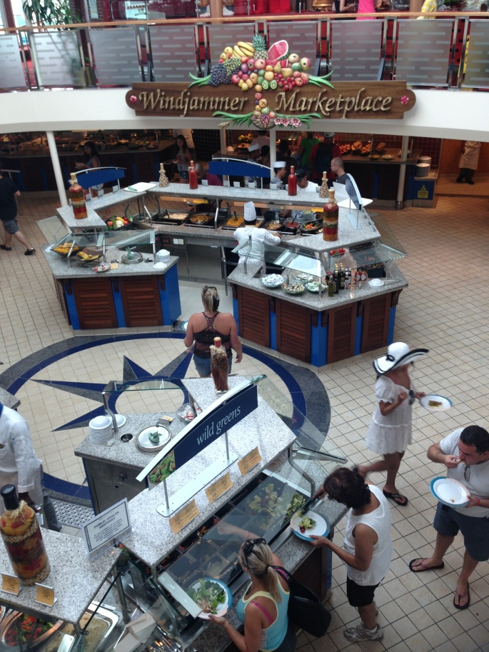 Windjammer Cafe was excellent on Royal Caribbean Majesty of the Seas.