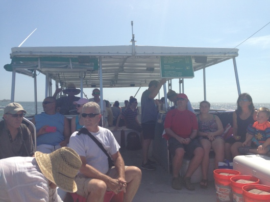 Onboard the ferry from Ft. Desoto to Egmont Key, St. Petersburg, Florida.