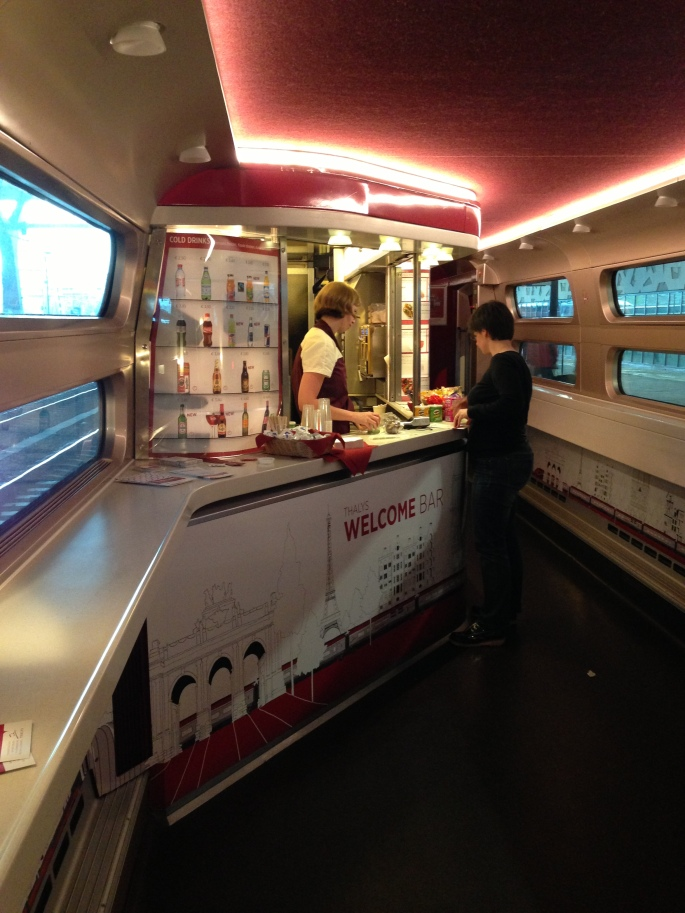 The buffet car on the Thalys is really quite nice.
