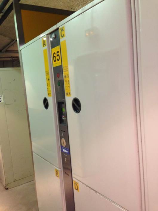 The left luggage lockers are quite handy at the Gare de Lyon's basement.