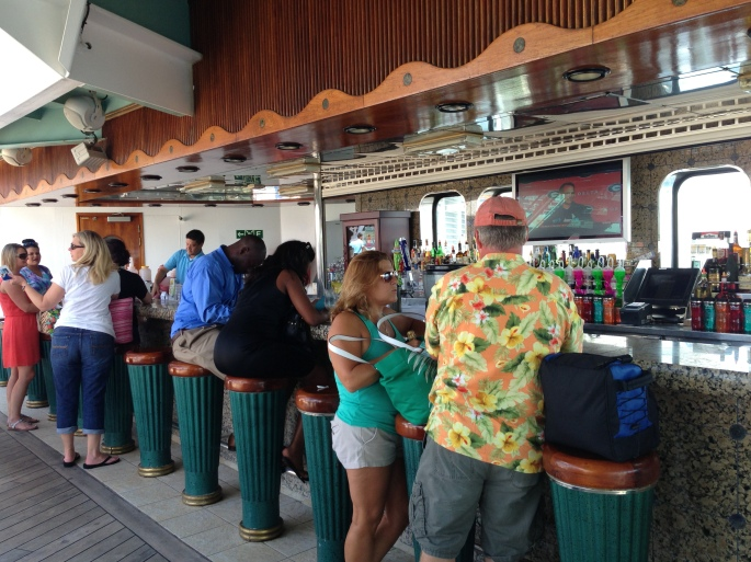 One of the poolside bars on the Carnival Paradise.