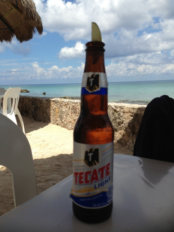 Your beer, in our case a Tecate Light, couldn't have a better view than this in Cozumel, Mexico.