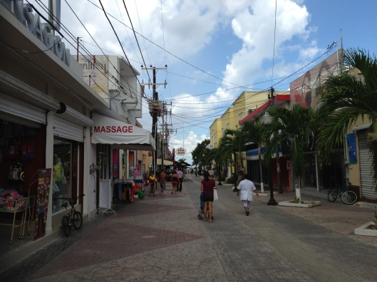 One of the many streets in San Miguel where you can stroll and shop for lots of things.