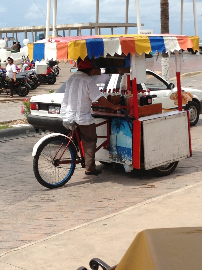 Colourful street vendors are out and about in San Miguel, Cozumel, Mexico and can be delightful when experienced.