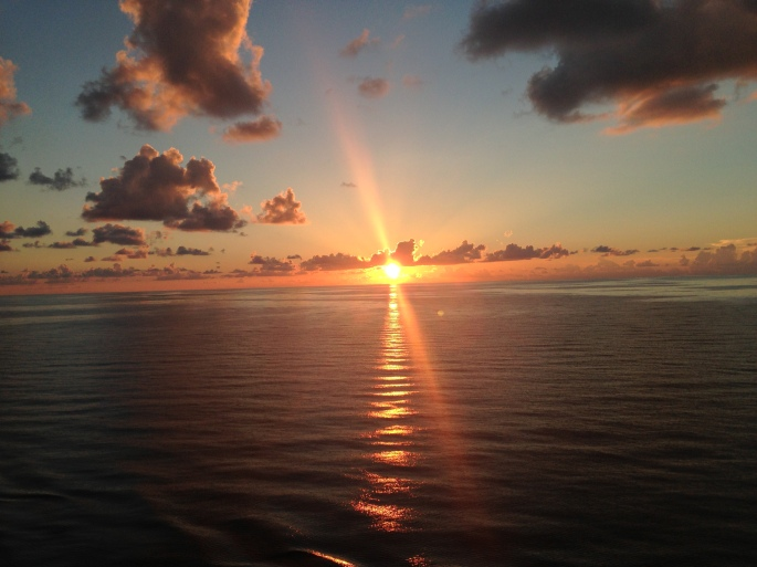 One of the true reasons for going on a cruise is the sunsets you see.  This one is from the deck of the Carnival Paradise enroute from Cozumel to Tampa.