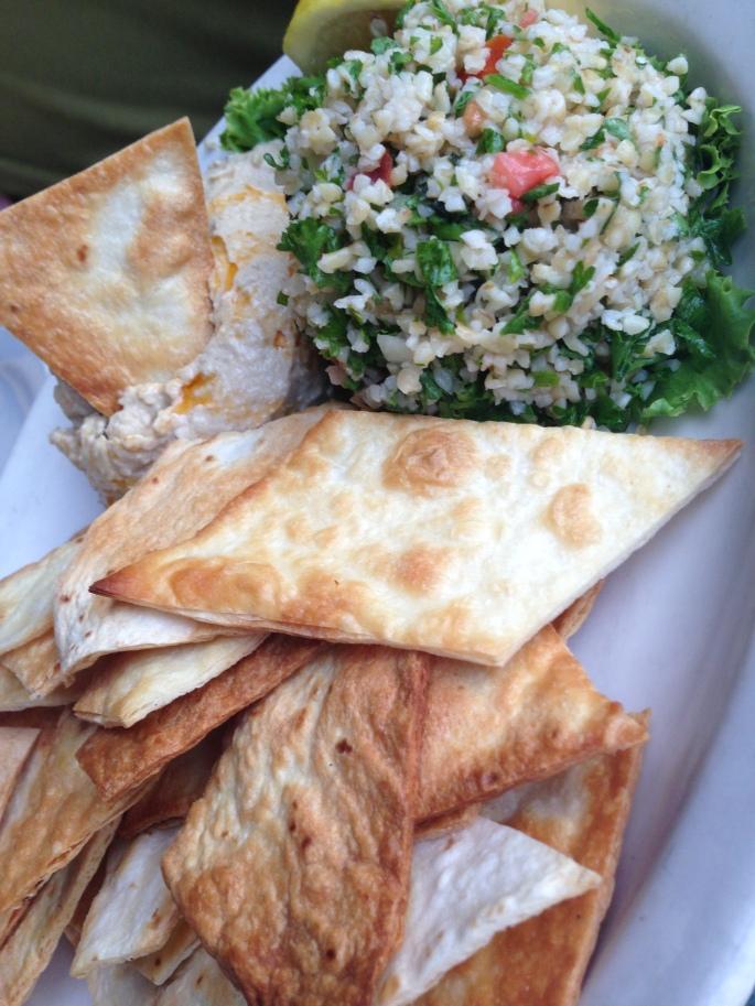 Hummus appetizer at Mango's Fort Lauderdale.