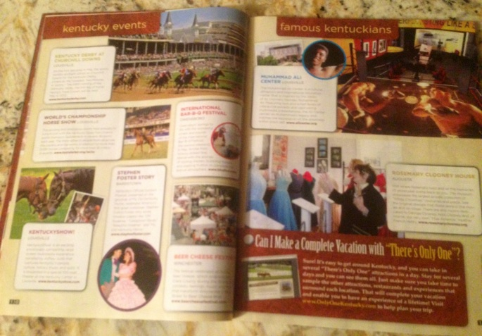Great layout showing niche interests in the Kentucky Visitors Guide.