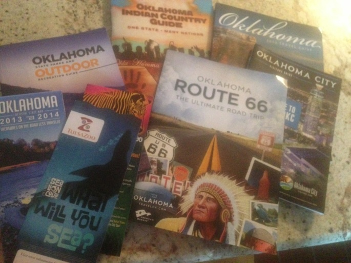 Plenty of materials arrive from the State of Oklahoma almost forcing you to spend extra time in the state.  The Route 66 guide was exceptionally well done.