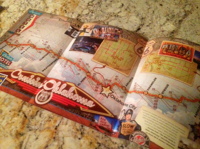 This is a great way to market Historic Route 66 with this fold out map in the guide.  Really makes you want to go.