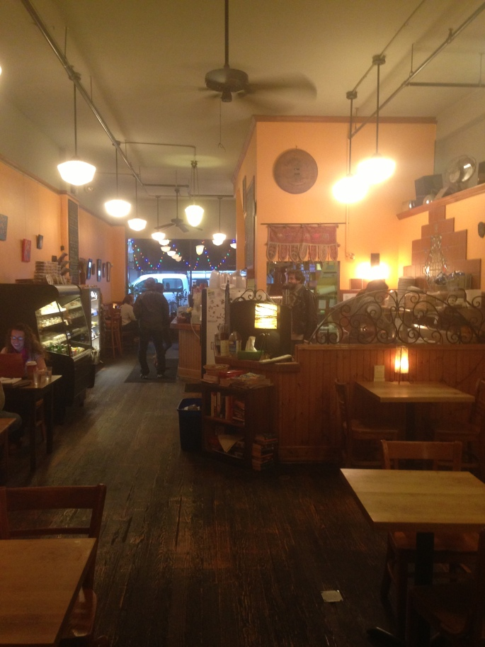 The inside of Cafe Kopi on Walnut Street in downtown Champaign, Illinois.