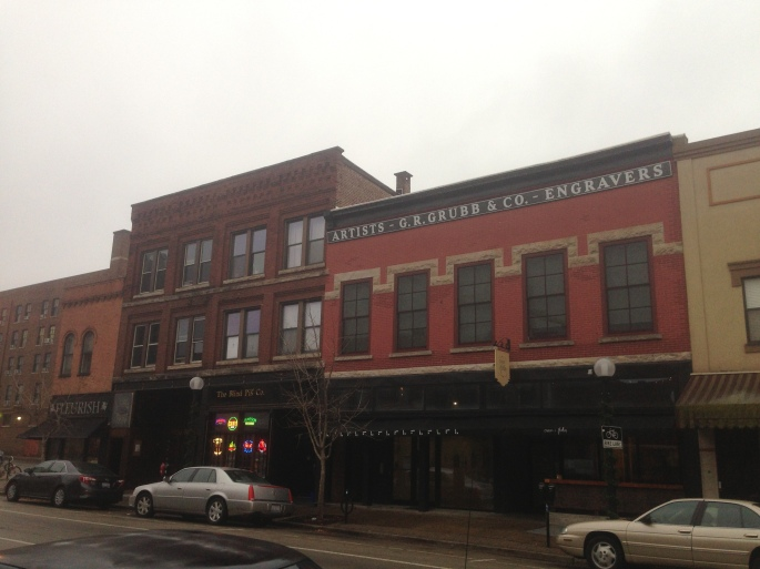 The art gallery across from Cafe Kopi is worth a look during a visit to Champaign Illinois
