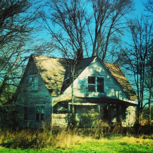Along the National Road you will see abandoned houses and businesses.  A clear reminder that the interstate system passed some people by.  This house is between Cumberland and Spring Lake, just outside Indianapolis.