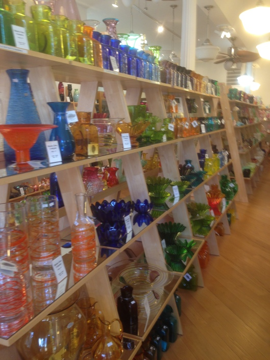 The West Virginia Glass Outlet on Queen Street is definitely worth a visit when in Martinsburg, WV.