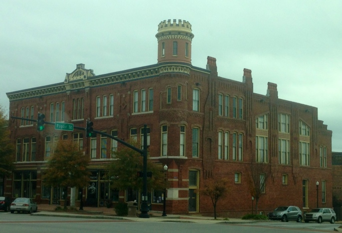Downtown Macon had quite a few historical buildings in it along with mostly wide boulevard style streets.