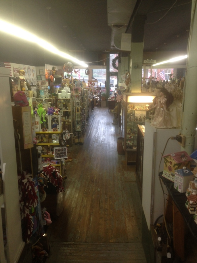 The Antiques Mart on Main Street interior in Jonesborough, Tennessee.