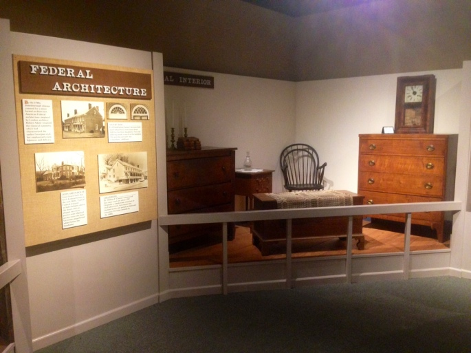 A museum exhibit at the Visitors Center, Jonesborough, Tennessee.