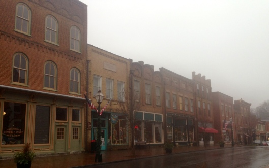 The Main Street in Jonesborough, Tennessee has a variety of shops to spend time in.
