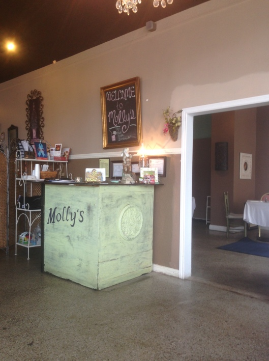 Molly's Cafe in downtown Macon was a delightful place to stop for lunch.