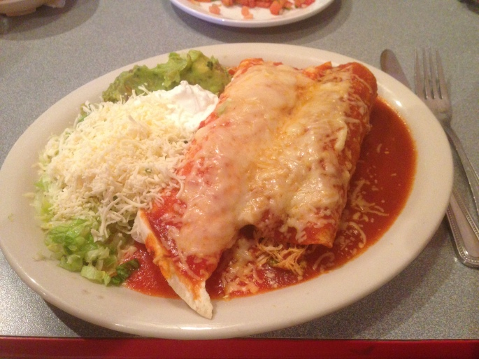 The Mexican food was incredible at Cancun, Crossville, Tennessee.