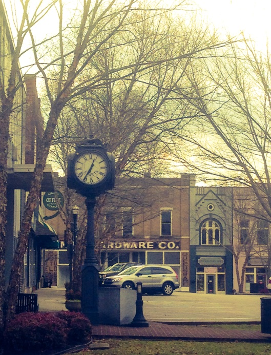 The main square in Sparta, Tennessee retains a quaint small town feel and look that seems to have stood still in time.