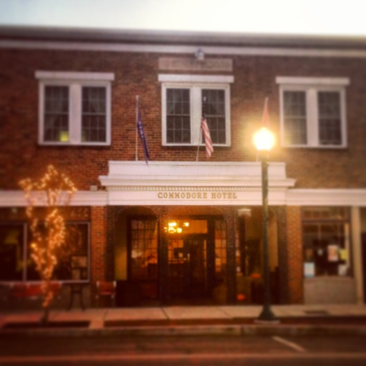 The Commodore Hotel in downtown Linden, Tennessee's Arts and Historic District.