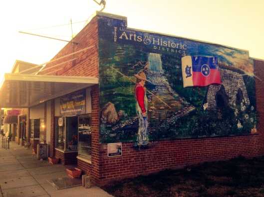 One of the murals in downtown Linden, Tennessee.