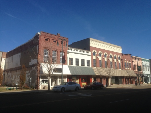 Nice historic structures are in abundance in downtown Jackson, Tennessee.