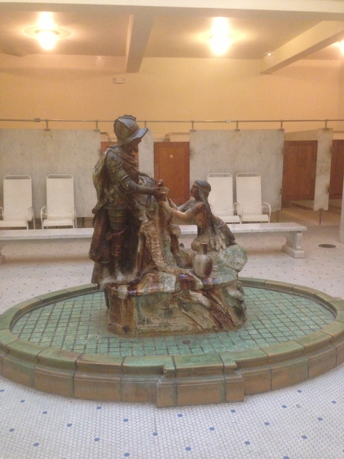 Inside the Fordyce Bath House you can see how people who would take the cure spent their time inside the facility.