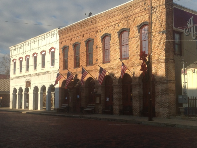 There was an abundance of historic buildings in downtown Jefferson.