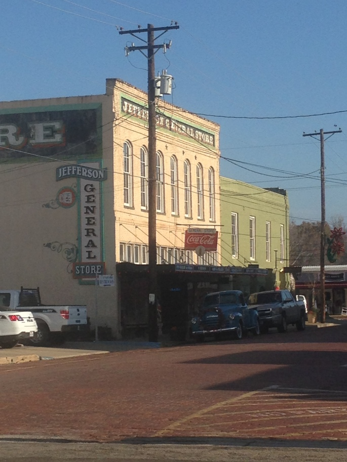 Great old brick streets, antique truck and a good old General Store.  Just some of the pleasures that await discovery in downtown Jefferson, Texas.