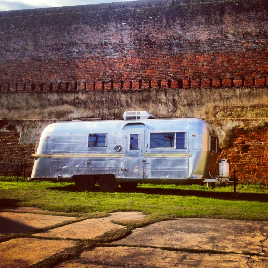 Jefferson was full of surprises and this classic Airstream trailer just sitting on a vacant lot was only one of them.