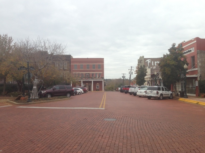 The wide brick streets surrounding the square in historic Nacogdoches, Texas also feature shops worth spending time in.