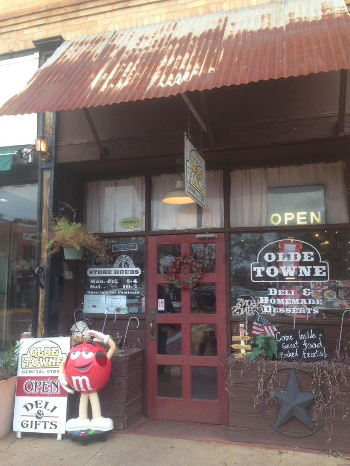 The Olde Towne General Store & Diner on Main Street in downtown historic Nacogdoches, Texas is well worth a visit.  Get a stuffed potato!