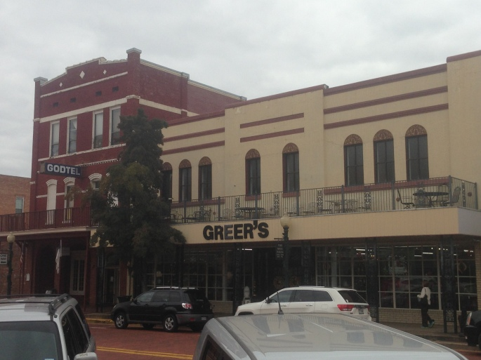 Nice old historic buildings line the brick streets of downtown Nacogdoches, Texas where there is plenty to see and do.