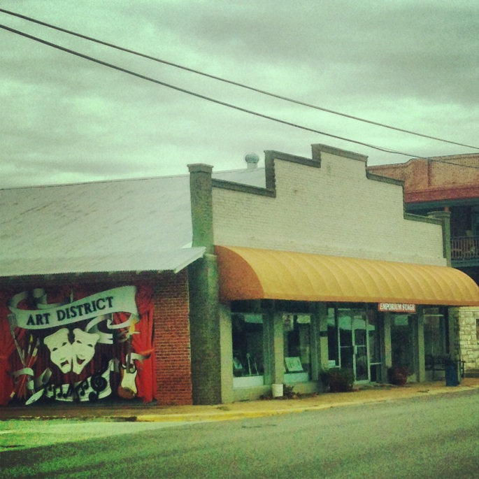 The Emporium for the Arts in downtown Woodville, Texas.
