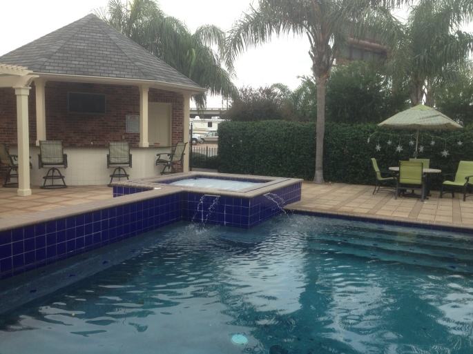 The RV Resort at the French Quarter in New Orleans has plenty of great amenities including this terrific pool.