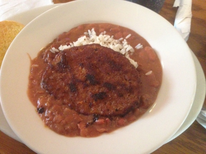 Beans and Rice from Deja Vu in the French Quarter of New Orleans, Louisiana.