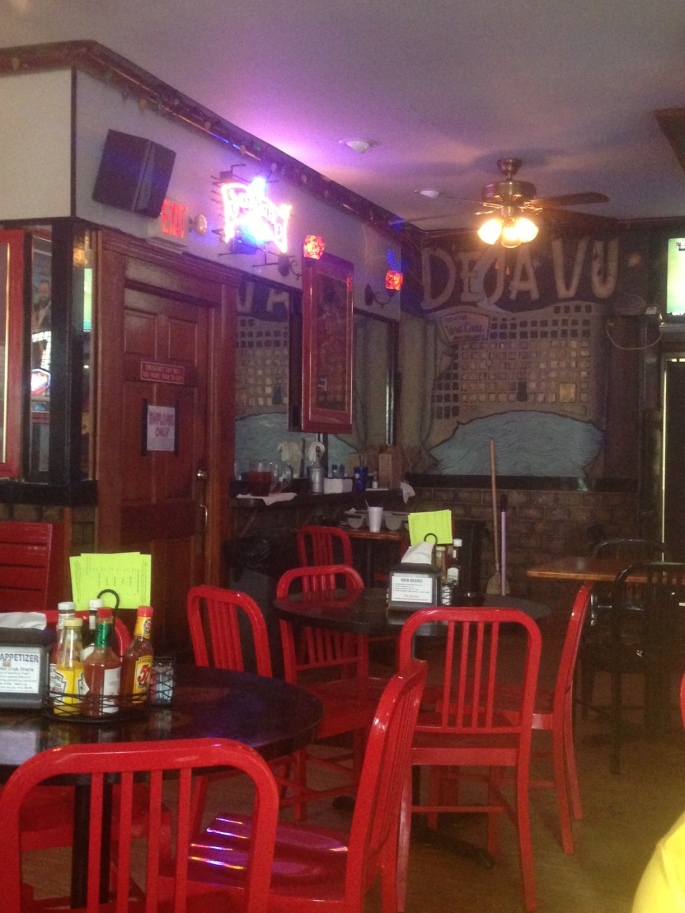 The interior of Deja Vu in the French Quarter of New Orelans.