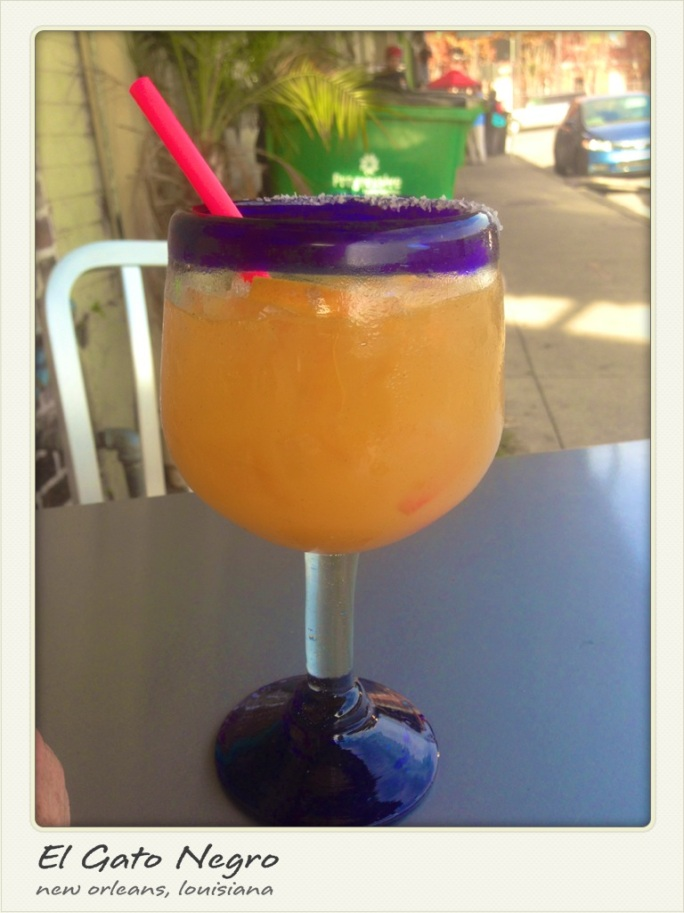 A margarita from El Gato Negro in New Orleans, adjacent to the French Market.
