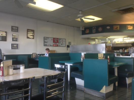 The interior of the Sentry Grill in downtown Alexandria, Louisiana doesn't look like it has changed much over the decades and it is just perfect the way it is.