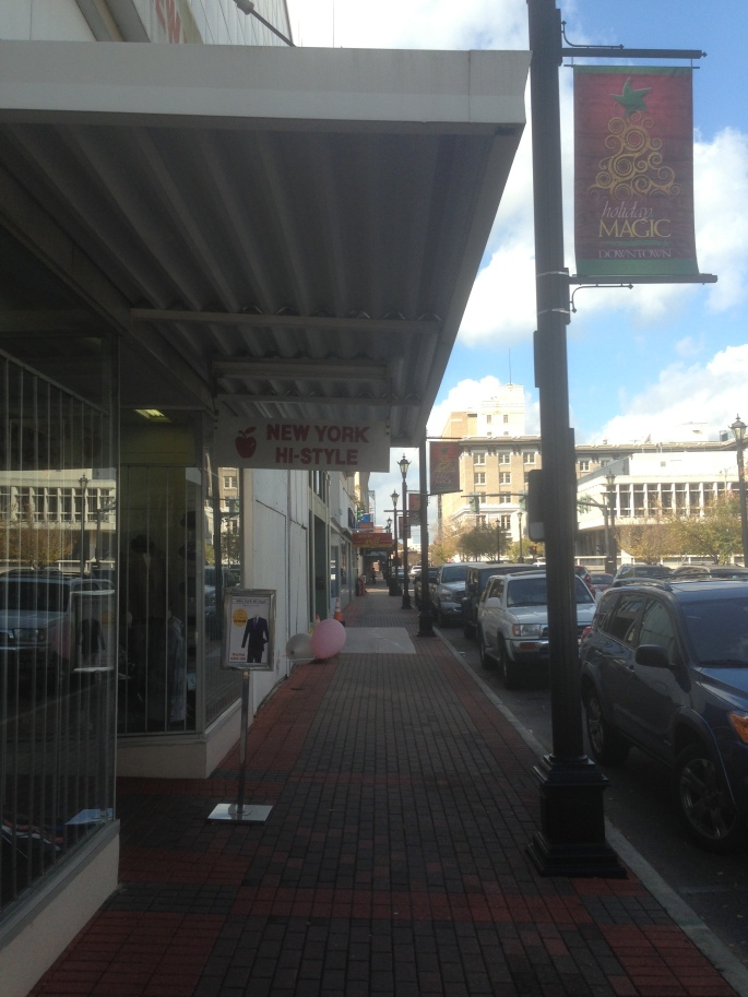 The main street in downtown Alexandria was lacking pedestrians but there is great promise if the right mix of businesses could be added, including far more residential to help those businesses.