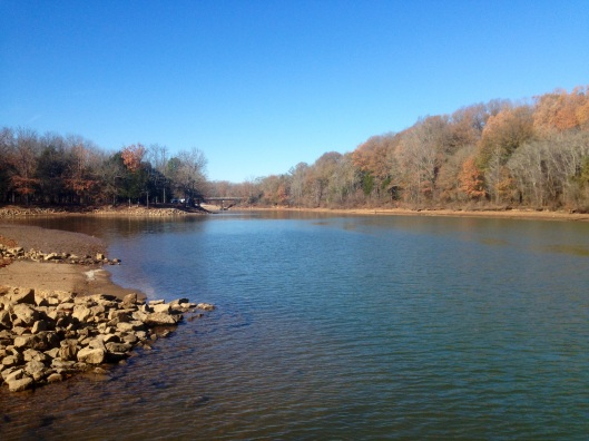 The Tennessee River from the Beech Bend Campground.
