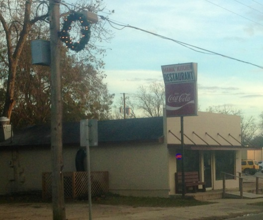 There are at least two cafes that we saw in the town of Altha.  Mama's Kitchen is one of them pictured here.