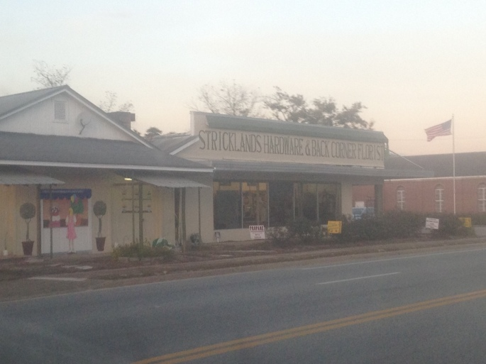In the town of Bristol, Florida, the hardware store and the florist is conveniently located in the same building.