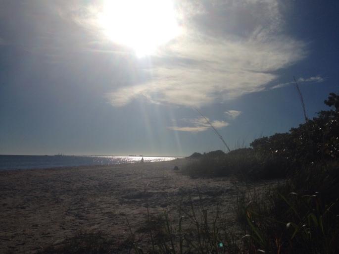 A beach scene at Fort Desoto Park, St. Petersburg, Florida.