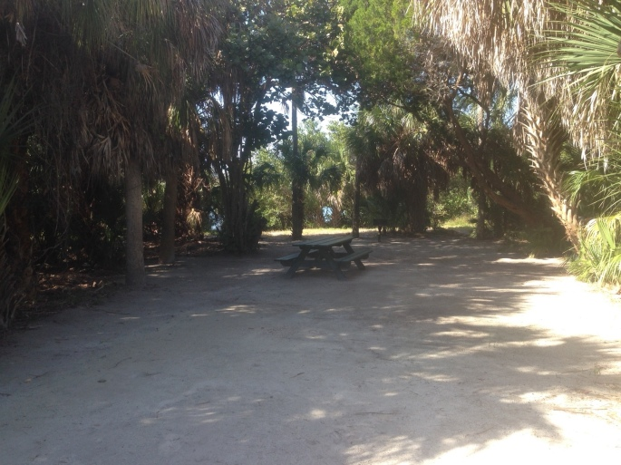 A vacant site at the campground in Fort Desoto Park awaits another visitor to St. Petersburg, Florida.