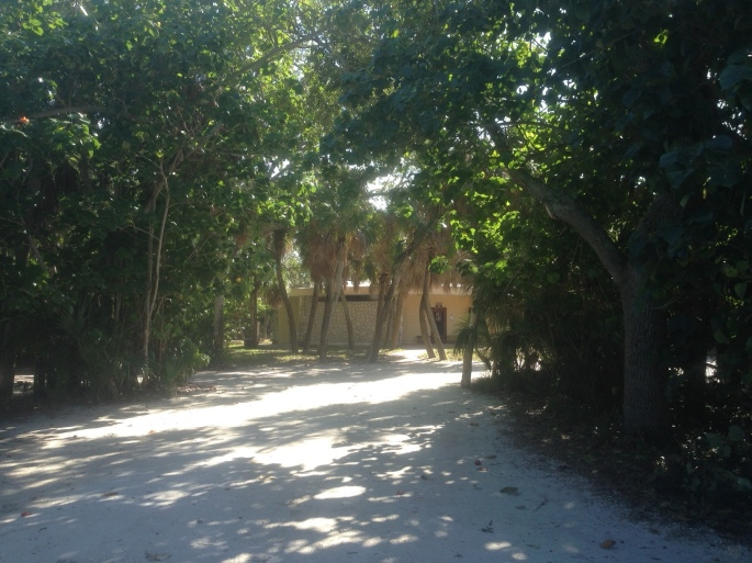 Bathhouses are clean and in natural surroundings at Fort Desoto Park, St. Petersburg, Florida.