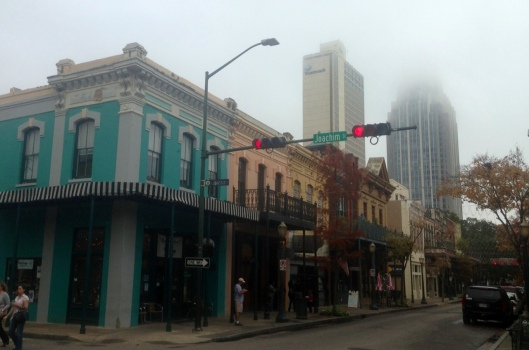 The junction of Joachim and Dauphin Streets in downtown Mobile, Alabama is in the midst of a nice historic district yet walking distance to the rest of downtown.