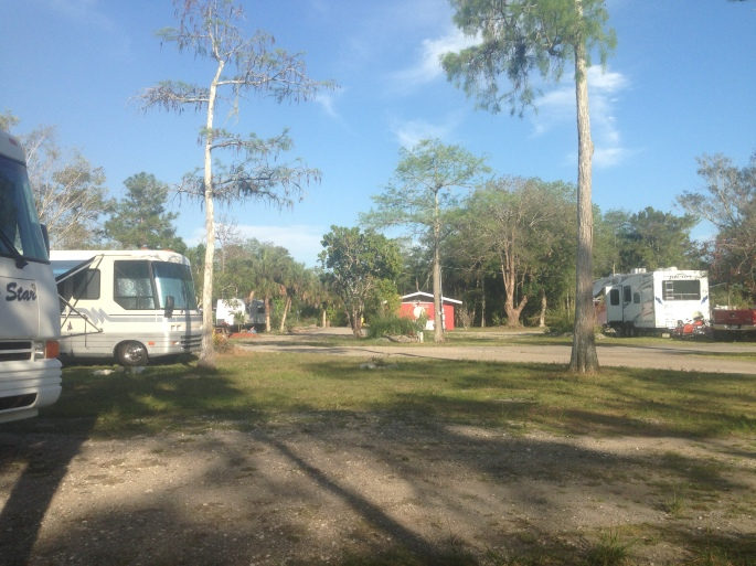 Nestled in the Everglades is this fairly rustic campground in the town of Ochopee, Florida.
