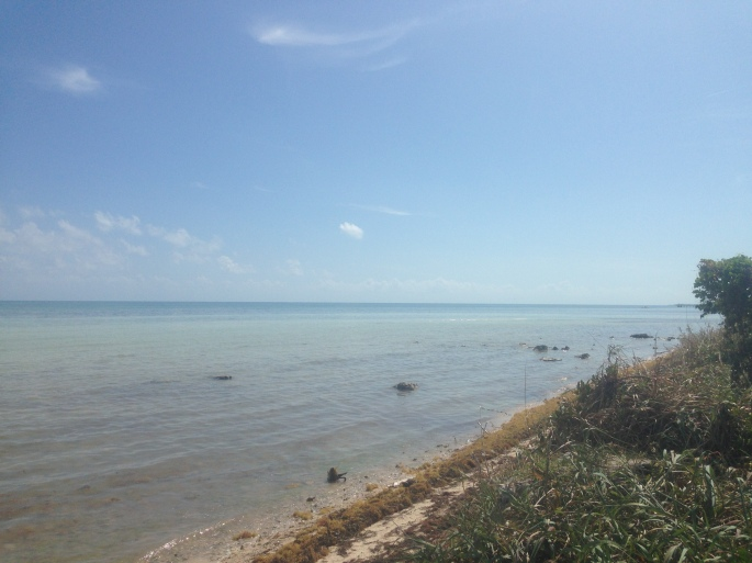 All campsites have ocean views at the Long Key State Park in Layton, Florida.  This is the view looking south from our site #51.